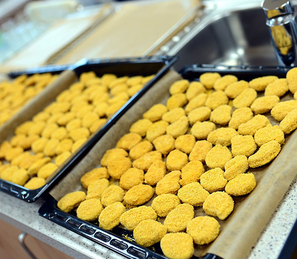 the way of making chicken nugget